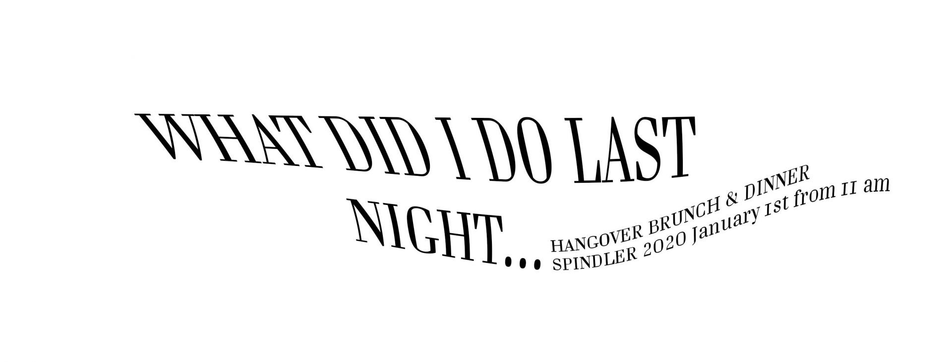 Spindler Berlin Neujahrsbrunch Dinner Hangover Brunch 2020