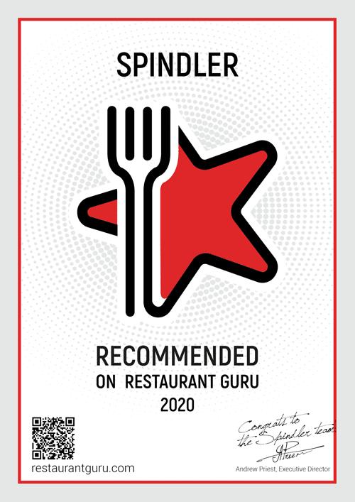 Spindler Berlin RestaurantGuru Zertifikat 2020